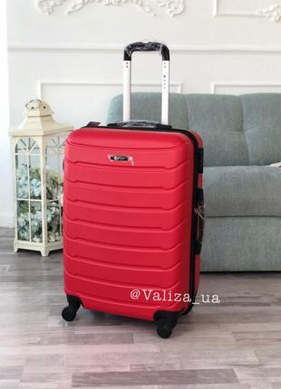 Распродажа: пластиковый чемодан fly s для ручной клади красный