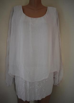 Итальянская шелковая блуза