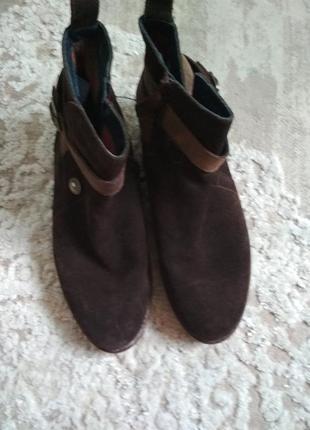 Ботинки замшевые tommy hilfiger