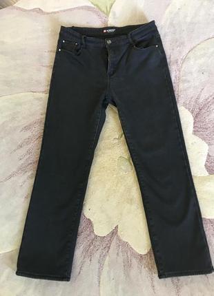 Утепленные джинсы большого размера
