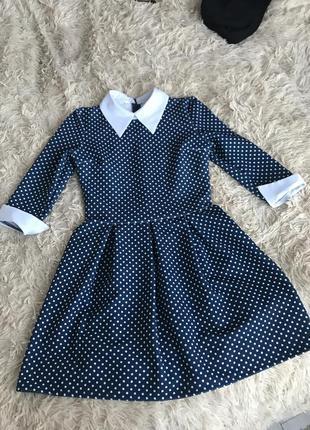 Платье в горошек sinsay