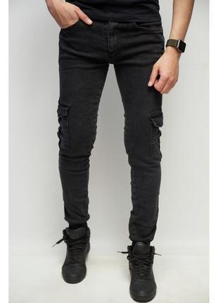 Джинсы джогеры fr joggers 7258 с карманами черные