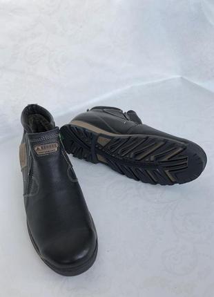 Сапоги кожаные зимние ботинки кожаные