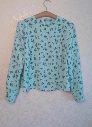Акция 1+1=3!!! рубашка, блуза нежно голубая, воздушная.