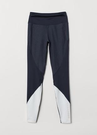 Спортивные легинсы темно-синие h&m лосины для спорта\фитнеса\зала m