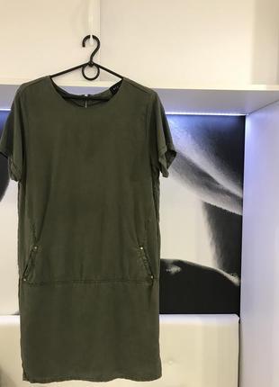 Платье mohito , хаки, 100% лиоцелл