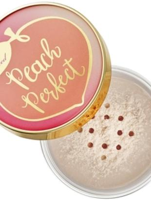 Too faced/peach powder/розсипчаста пудра/пудра/финишная пудра/
