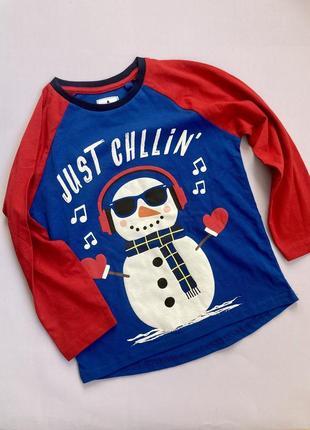 Реглан на мальчика новогодния кофта снеговик