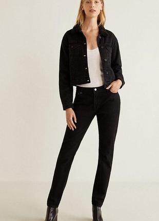 Куртка borg mango 🥭 джинсовая курточка утеплённая ❤️