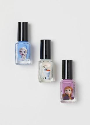 Набір дитячих лаків для нігтів «холодне серце» від h&m
