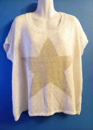 Пуловер без рукавов оверсайз звезда