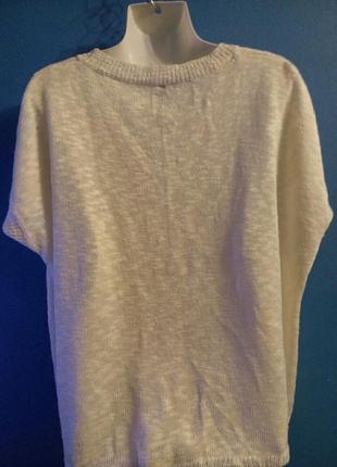Пуловер без рукавов оверсайз звезда2 фото