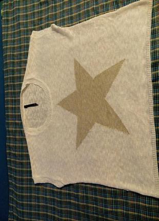 Пуловер без рукавов оверсайз звезда3 фото