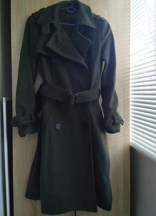 Шерстяное пальто zara двубортное