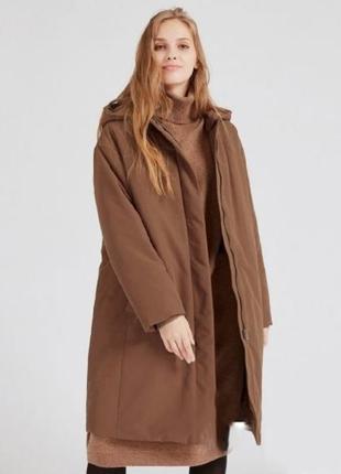 Очень теплое пуховое  пальто гибрид  uniqlo