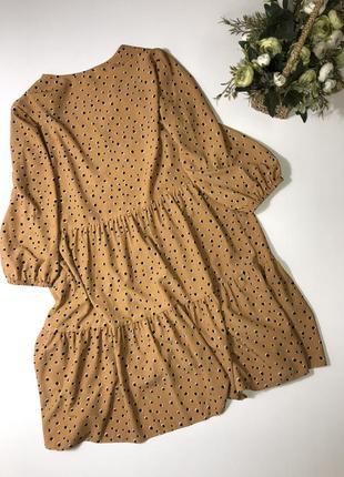 Платье в горох primark  размер с{8} состояние нового2 фото