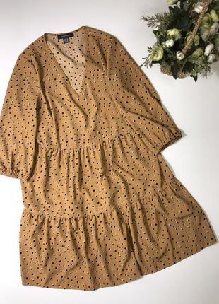 Платье в горох primark  размер с{8} состояние нового
