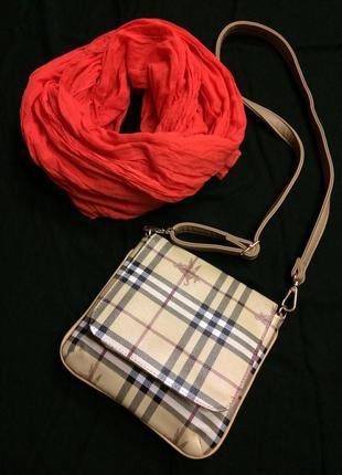 Крутая яркая сумка burberry,сумочка кросс-боди+подарок ремешок