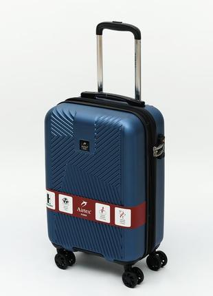 """Французский ударостойкий чемодан  из поликарбоната на 4-ых колесах """"airtex """" 7346 s blue"""