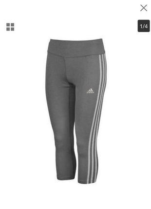 Спортивные капри adidas бриджи лосины леггинсы m\38 оригинал