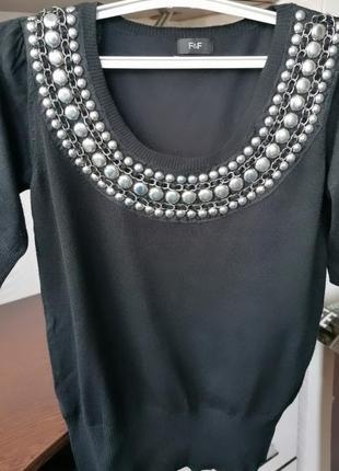 Чёрный свитер (джемпер, кофта под джинсы, брюки, юбка,лосины, колготы, чулки)