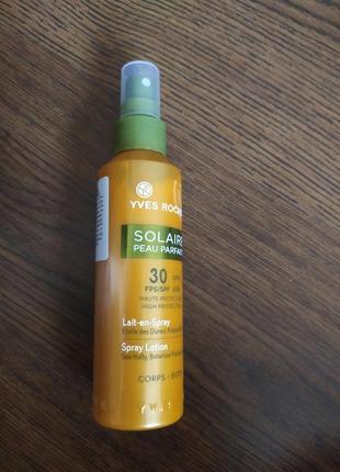 Солнцезащитное молочко-спрей solaire spf30   yves rocher сонцезахисний спрей
