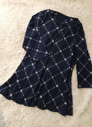 Пушистая синяя с белым туника, платье, 3xl.