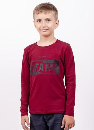 Джемпер футболка длинный рукав с принтом