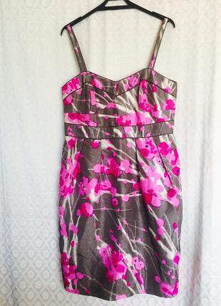 Платье, сарафан натуральный шелк миди