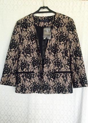 Шикарный кружевной пиджак, жакет, болеро