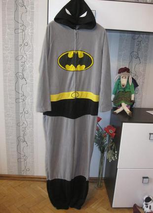 Потому что я бетмен! кигуруми флисовый комбинезон халат пижама м