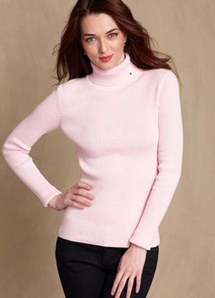 Розовый свитер-гольф tommy hilfiger. размер xs