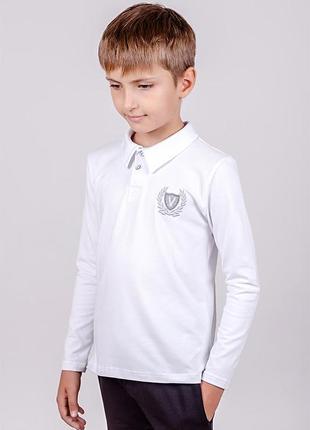 Джемпер футболка длинный рукав поло с воротником