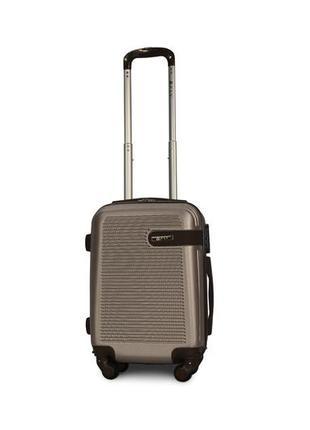Распродажа: малый пластиковый чемодан ручная кладь шампань fly 1101
