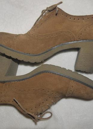 Ботинки туфли  - броги оксфорды   40р. janet d.