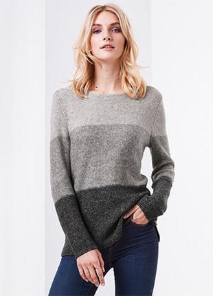 Стильный вязанный свитер с красивыми полосками tcm tchibo