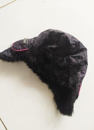 Меховая шапка ушанка авиатор