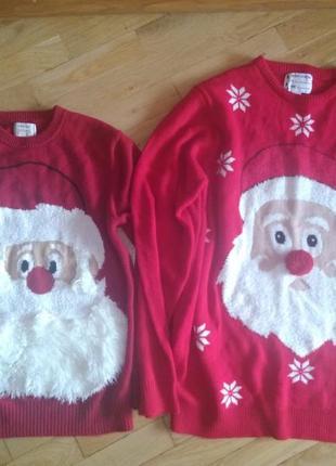 Новогодние свитера xxl и l фэмили лук