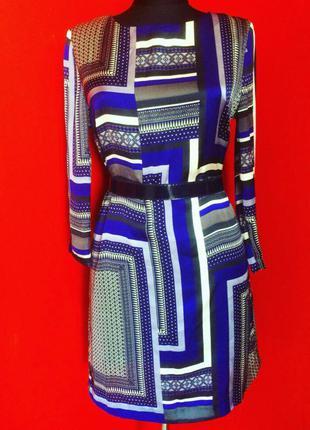 Платье h&m из шелк-атласа