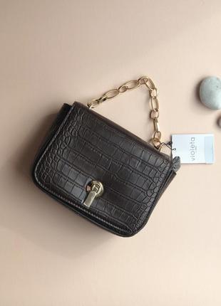 Манго коричневая новая сумка сумочка mango violeta
