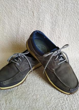 Мокасини туфли лоферы кроссовки кожа clarks размер 41,5