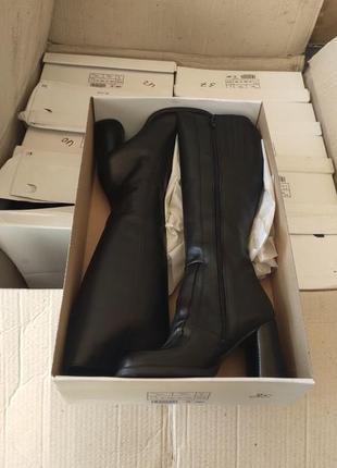 Распродажа!!! натуральная кожа сапоги на каблуке
