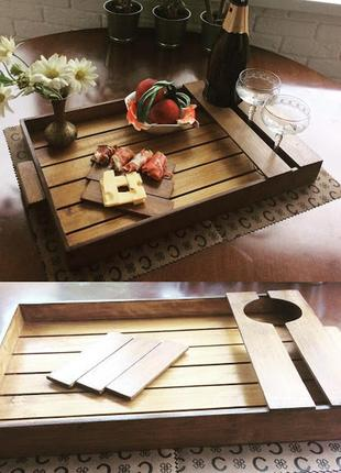 Дизайнерский деревянный поднос