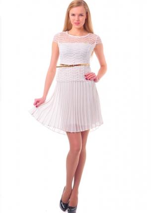 Платье нарядное цвета шампань турция 44.
