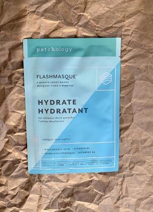 Тканевая маска для лица flashmasque hydrate 5 minute sheet mask , patchology