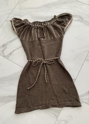 Платье тёплое вязаное шерсть