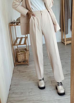 Свободные штаны с высокой талией