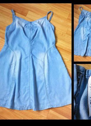 Фирменное джинсовое платье chicoree, размер l