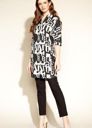 Платье тонкое свободное женское осеннее весеннее zaps emara 004 черное черно-белое