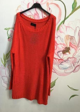 Длинный вязанный свитер, платье вязанное